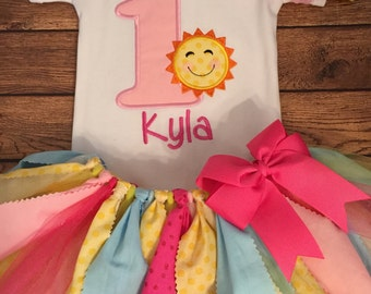 You Are My Sunshine Birthday Tutu Outfit