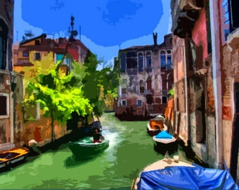 "Needlepoint canvas "" Venice"" (SC046)"