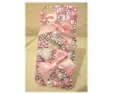 Pink phone case  pearls phone case  bows phone case  name phone case  personalised phone case  pretty phone case