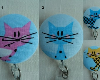 Colorful Cats Retractable ID Name Badge Holder Reel