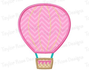 Hot Air Balloon Applique Machine Embroidery Design 4x4 5x7 6x10 INSTANT DOWNLOAD