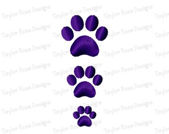 Paw Print Mini Satin Solid Fill Machine Embroidery Design 0.5x0.5 0.75x0.75 1x1 Tiny half inch three quarter 3/4 one inch INSTANT DOWNLOAD