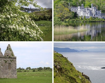 Irish Countryside Print Set, Ireland Photography, Irish Landscapes, Wall Decor, Green Pastures Photographs  - Irish Countryside Collection