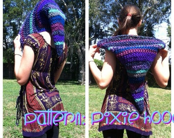 PATTERN: Pointed Pixie Hood Mid-Length