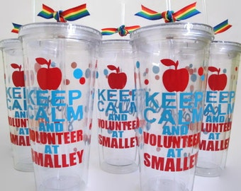 Made To Order, 20 oz Personalized CUSTOM Acrylic Tumbler, MTO Occupation, College Major, School Mascot, Fundraiser Booster Club Acrylic Cup