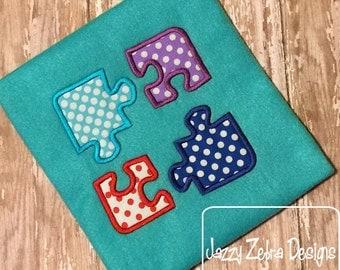Puzzle Pieces Applique Design