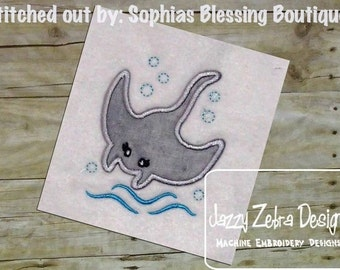 Manta Ray Applique Design