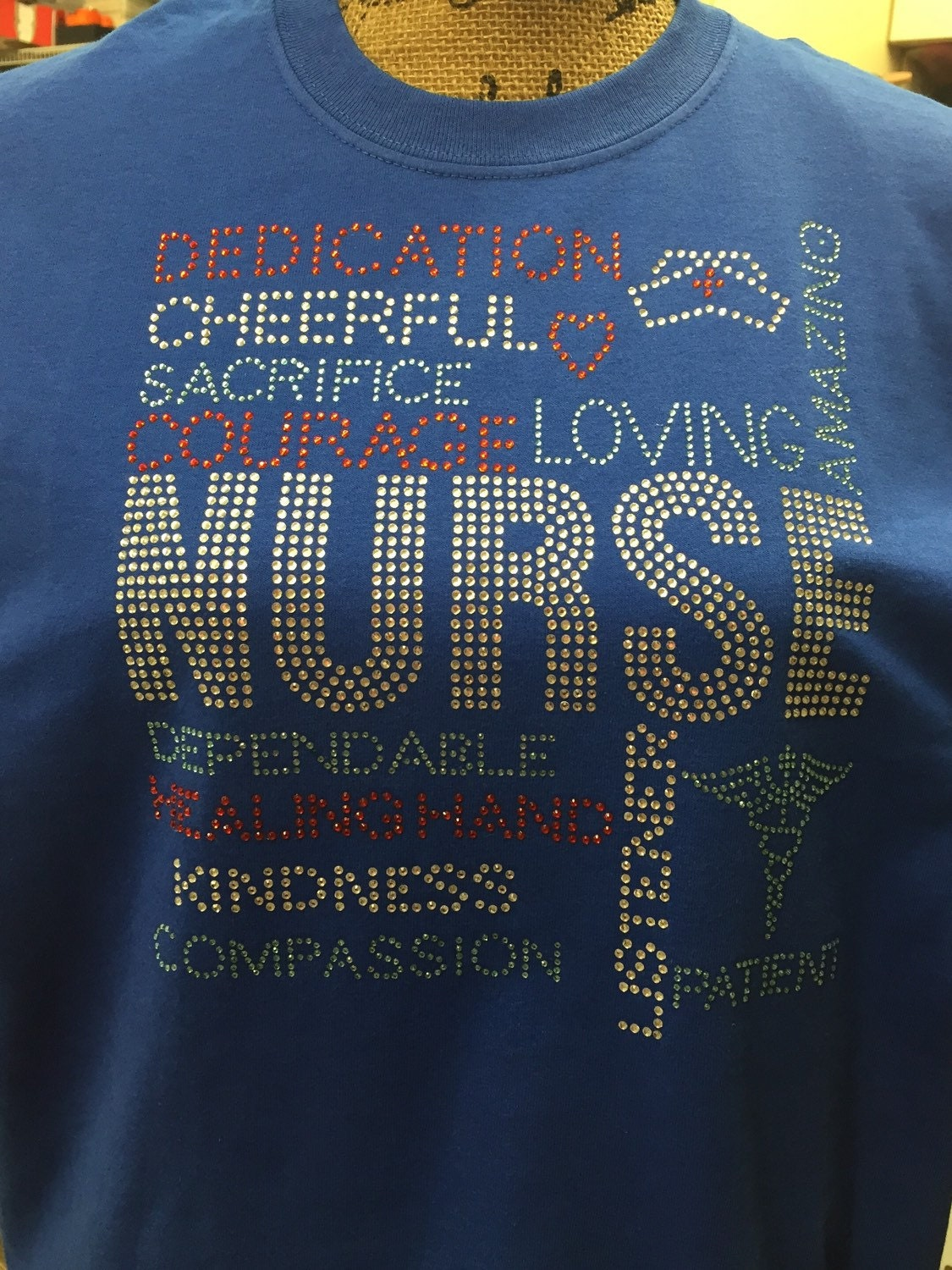 Nurse T Shirt Rhinestone Shirts Custom Nurse T Shirts