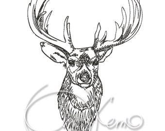 MACHINE EMBROIDERY DESIGN - Deer 1