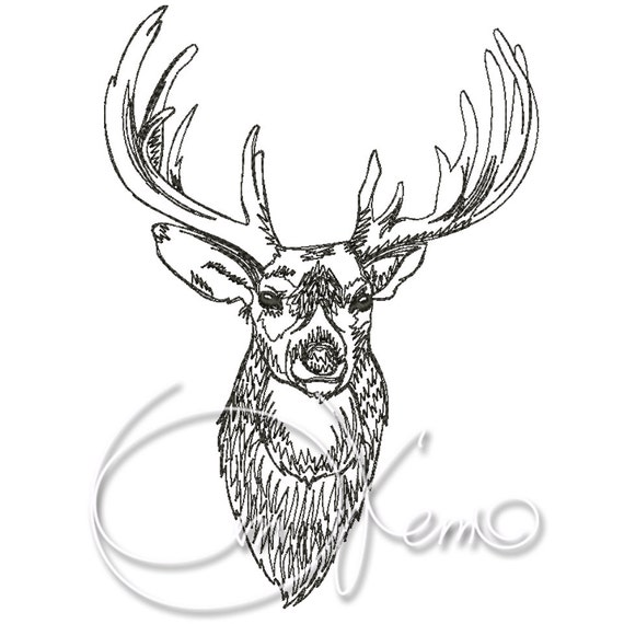 deer machine embroidery designs