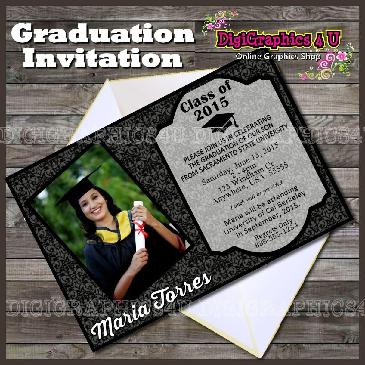 class of 2015 graduation party invitation printable