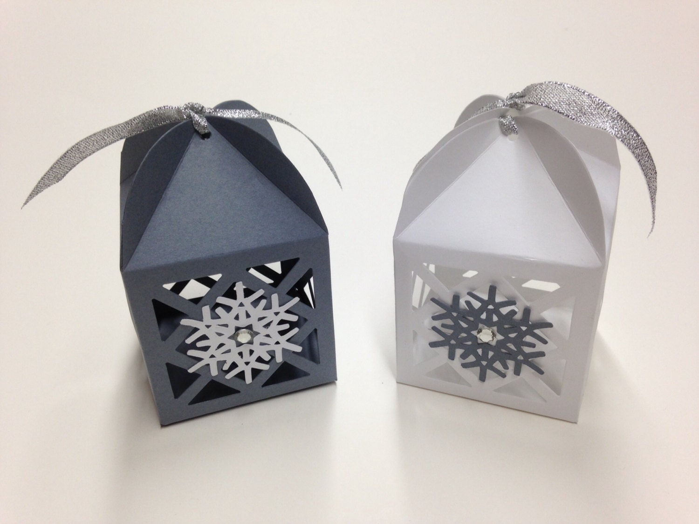 Snowflake Favors Snowflake Favor Boxes Winter Wedding Favor