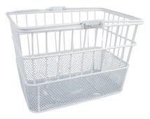 White Mesh Deep Wire Basket