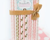PINK TUTUS -Blush Pink, Pink and Gold Paper Straws, Blush and Gold Wedding, Gold Straws - Pink baby shower, Shabby Chic, Rustic Buffet Table