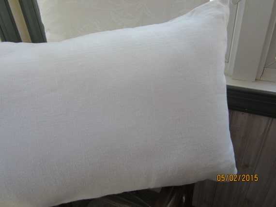 Pure white summer linen throw pillow in three sizes