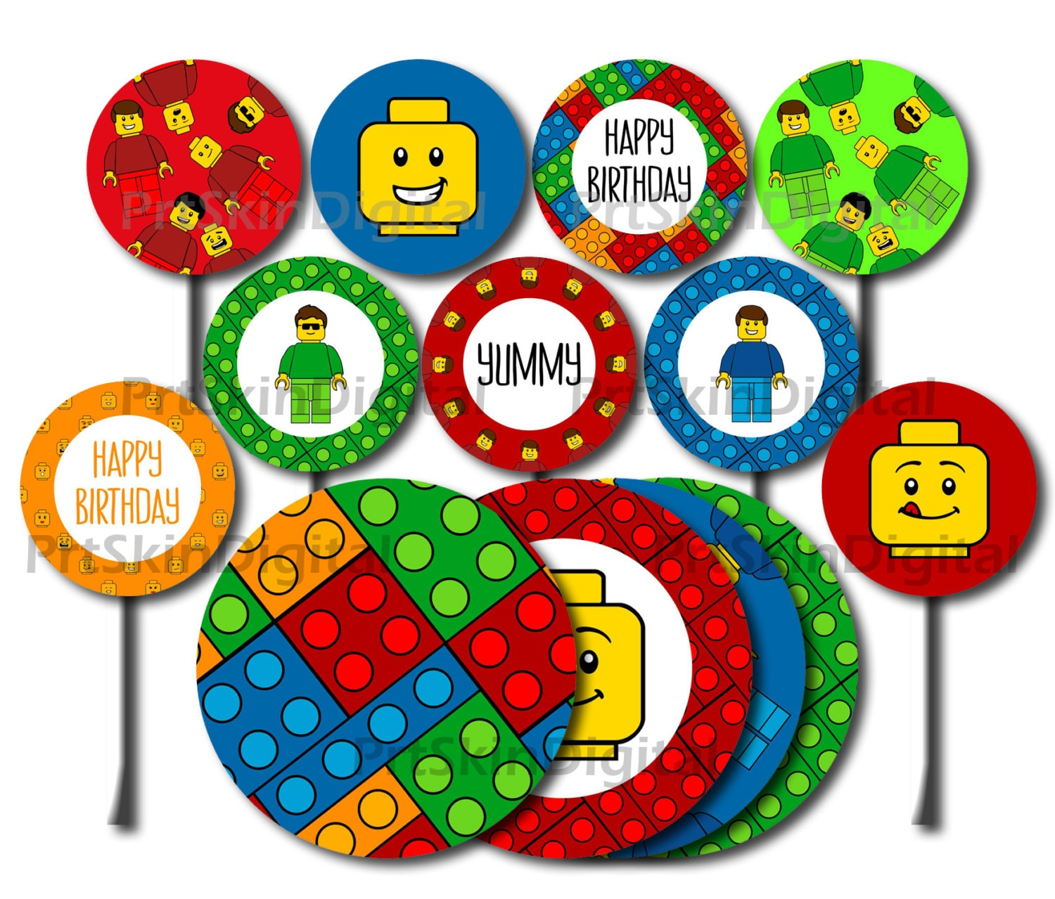 Fantastic Lego Cake Toppers Slubne Suknie Info Funny Birthday Cards Online Overcheapnameinfo