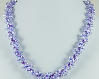 Lilac Spiral Necklace
