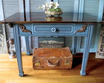 """Ancient soft wood dining table """"Bonaparte"""" - unique"""