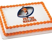 Peyton Manning NFL Football - Edible Cake and Cupcake Topper For Birthday's and Parties! - D20143