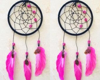 Hot Pink Skull Dreamcatcher