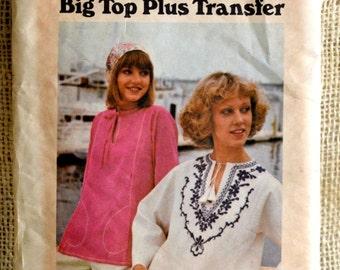 Butterick 4165- Big Top Plus Transfer // Vintage Top pattern