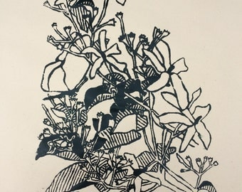 In Our Garden 2, hand-printed silkscreen illustration, 2014