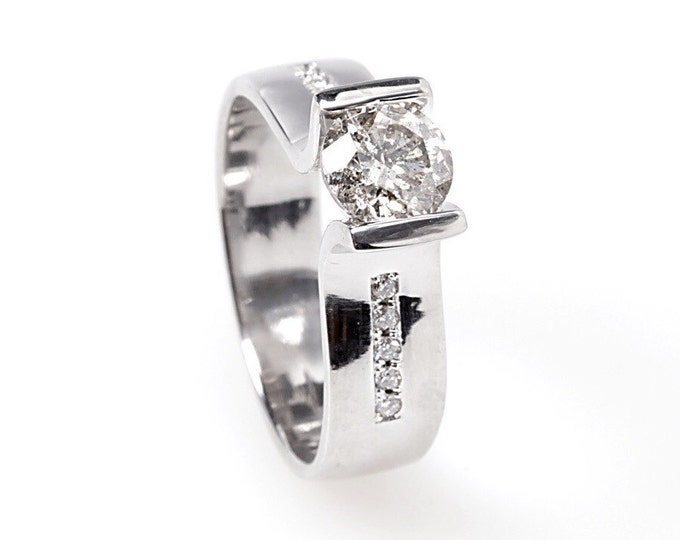 Diamond Engagement Ring-White Gold Engagement Ring-Engagement Ring-promise ring-Bridal Jewellery-Anniversary Gift-wedding & engagement