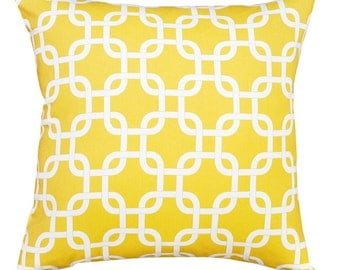 Gotcha Twill Corn Yellow Cushion Cover. Pillow Cover.