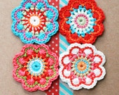 Crochet flower card. Wedding, special birthday, thank you or Mother's Day. 'Maisy'