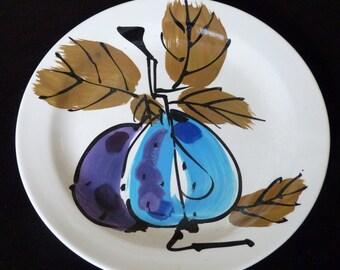 Vintage Vera Neumann  Decorator China Plate Ladybug Signature