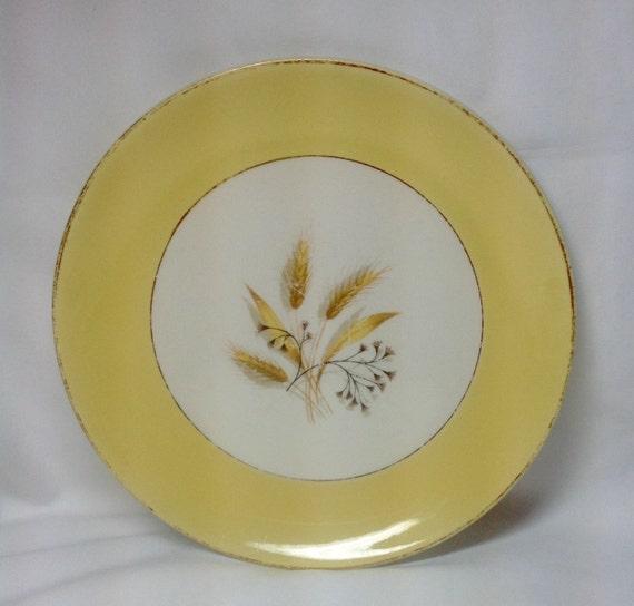Vintage Semi Vitreous Dinnerware Autumn Gold Yellow Wheat Gold
