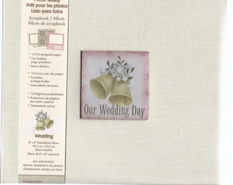 Our Wedding Day Blank Scrapbook Album. Memories, 16 pages, Bride, Groom, Marriage