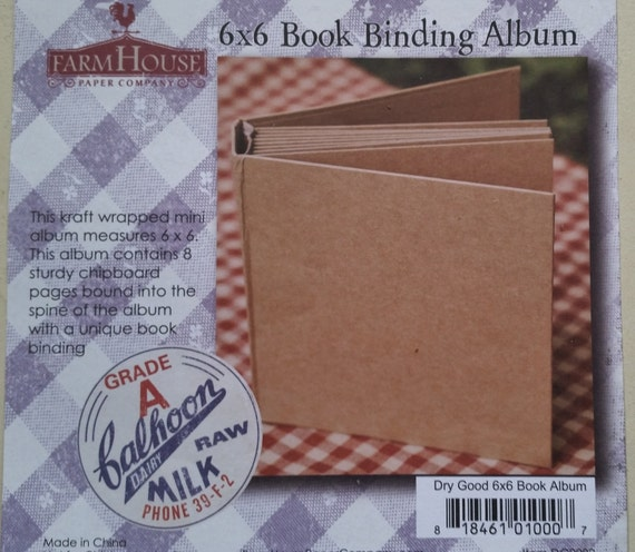6x6 Chipboard Book Binding Album Scrapbook Mini Album Brag