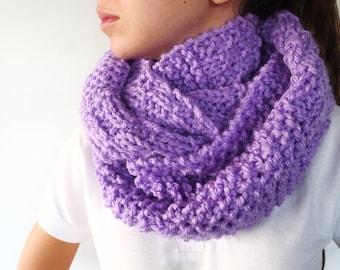 bufanda circular hecha a mano cuellos de lana dos agujas cuellos tejidos para invierno