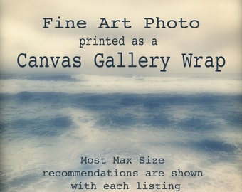 "Canvas Gallery Wrap, Photo Art, stretched giclée, Canvas Gallery Wrap, on 1-1/2"" wooden bars, black side edges"