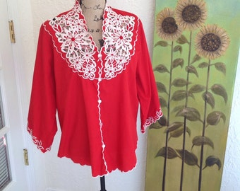 Red Moroccan Tunic size XLarge