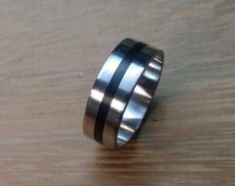 carbon fiber & steel ring