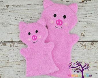 Pig Bath Buddy Hand Puppet