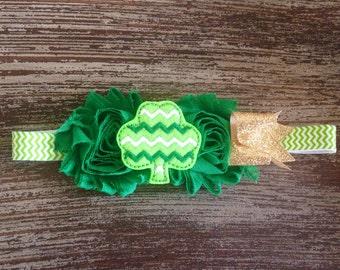 St. Patrick's Day Headband - Shamrock  Hair Clip - Felt Hair Clip - St. Patty's Hair Clip - St Patricks Day Headband