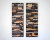 Modern Reclaimed Wood Wall Art