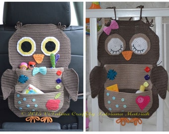 Crochet Pattern - Owl Treasure Organiser