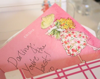"""Personalized Stationery Set: Audrey Hepburn in Funny Face, """"At the Flower Stand"""""""