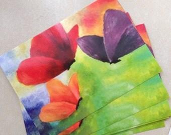 A6 butterfly postcard