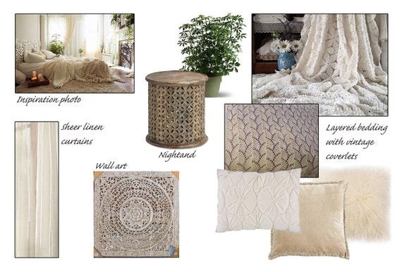 Bohemian Bedroom Online Interior Design Package