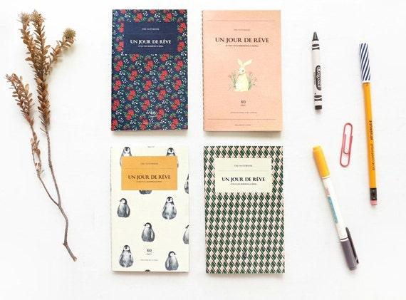 grid mini notebook    handy notebook 4 types    journal