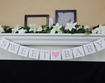 Sweet Baby banner, Its a Girl banner, welcome baby banner,Baby Shower Decorations,baby girl banner,baby shower banner,baby shower sign