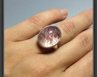 Ring with rutilated quartz-size US 7 1/4