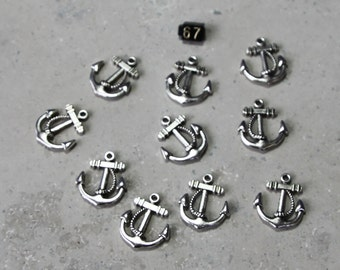 10 Anchor with Rope 2D Charms # 67