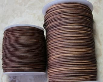 1.8mm Sippa leather cord- 25 meters/81.25 feet