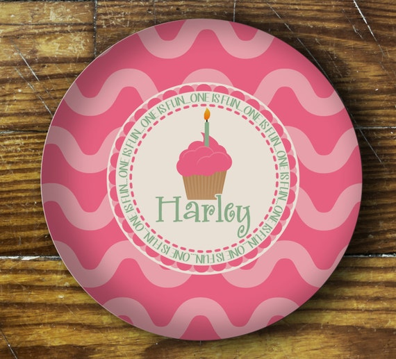 Personalized Dinner Plate or Bowl - First Birthday